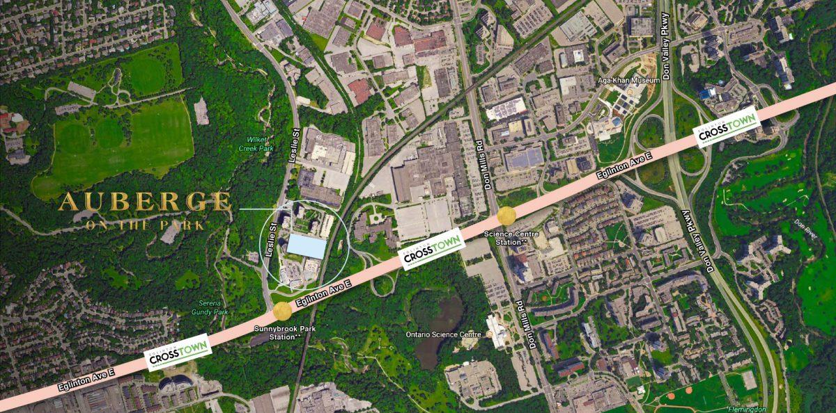 Auberge map condo toronto